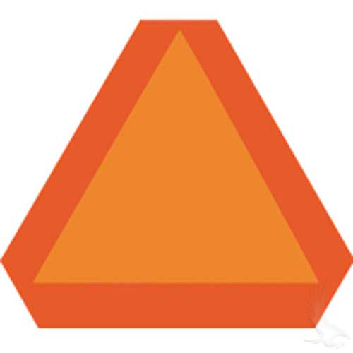 Tractor Reflective Triangles : Slow moving vehicle emblem orange reflective triangle