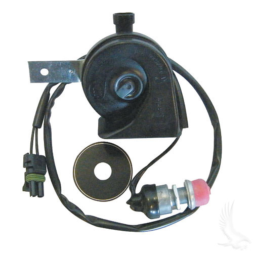 HORN ASSEMBLY, PLUG & PLAY W/ FACTORY HARNESS (EZGO RXV)