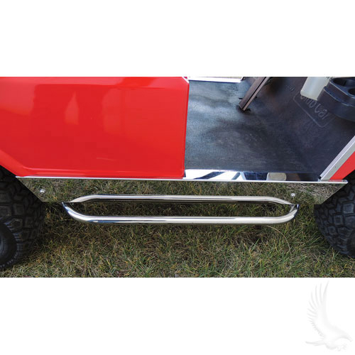 STAINLESS STEEL NERF BAR SET (CLUB CAR DS)